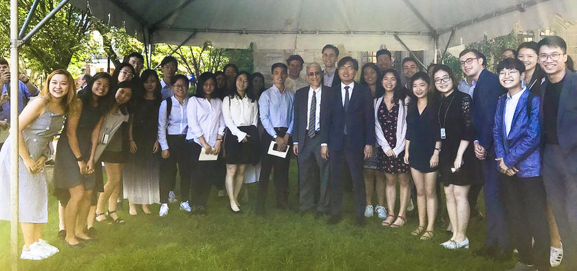 Y-VISP 2019-20 with Dean Chun and President Salovey